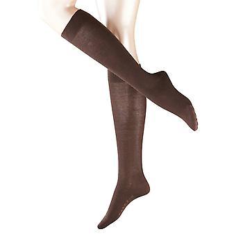 Sensible a Falke Londres calcetines hasta la rodilla - marrón oscuro