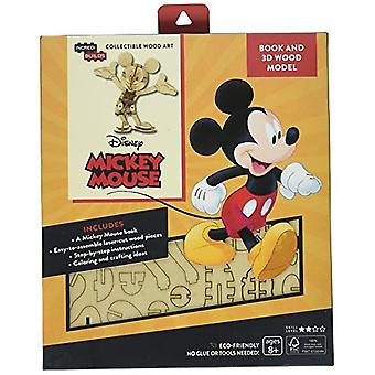 IncrediBuilds Walt Disney: Mickey Mouse 3D Wood Model and Book