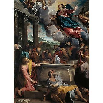 Die Himmelfahrt der Jungfrau, Annibale Carracci, 50x40cm