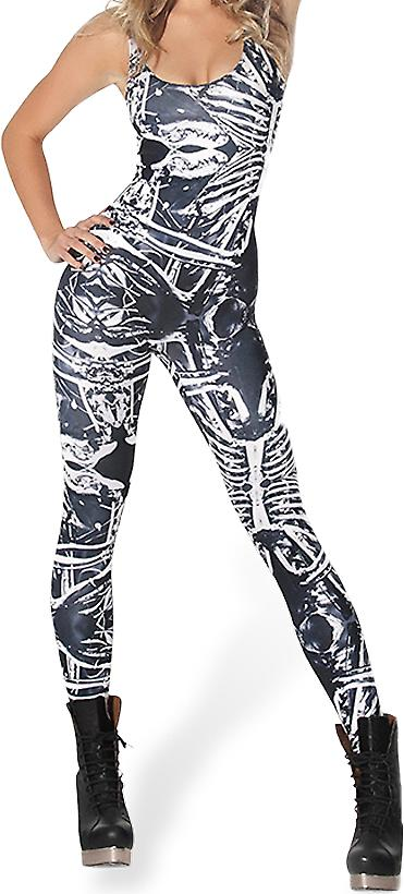 Waooh - Fashion - Catsuit pattern skeletons
