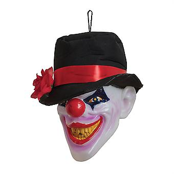Clown-Kopf w / Licht & Klang beängstigend