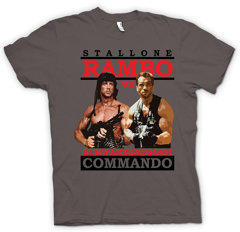 Womens T-shirt - Rambo Or Commando - Action - Hero
