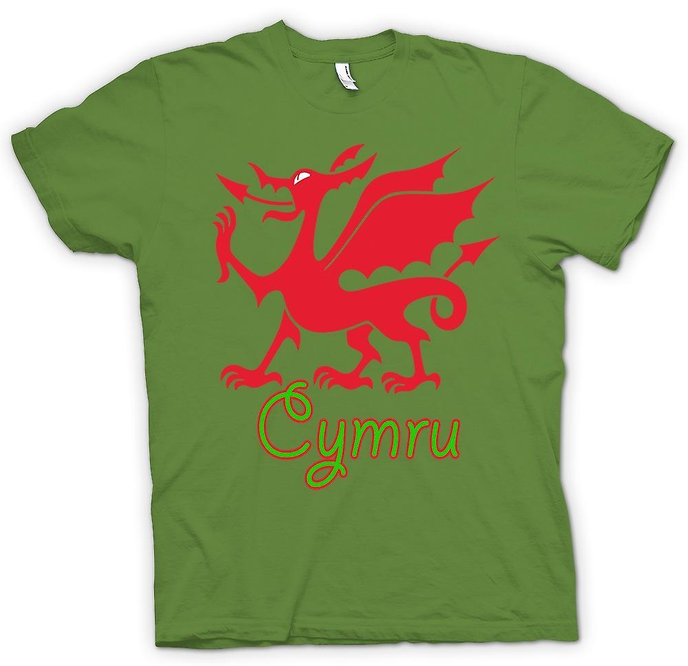 T-shirt des hommes - Welsh Dragon - Cymru