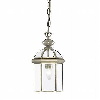 7131AB Solid Antique Brass 1 Light Lantern