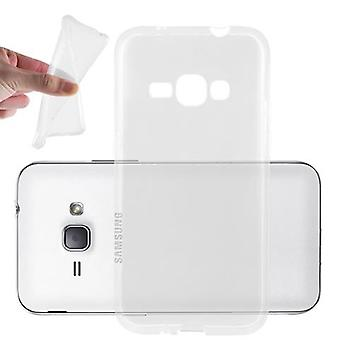 Cadorabo Case for Samsung Galaxy J1 2016 Case Cover - Mobile Phone Case made of flexible TPU silicone - Silicone Case Protective Case Ultra Slim Soft Back Cover Case Bumper