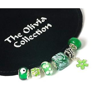 Toc Beadz Bargain-Bag 'Gorgeous Greens' Pack of 6 Slide-On Beads