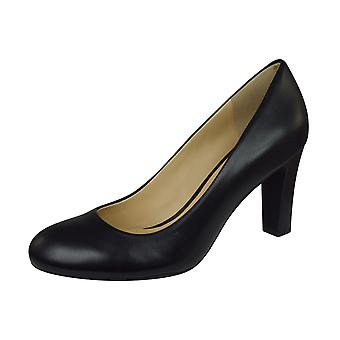 Geox D N Mariele H.A Smooth Leather Womens Shoes / Heels  - Black