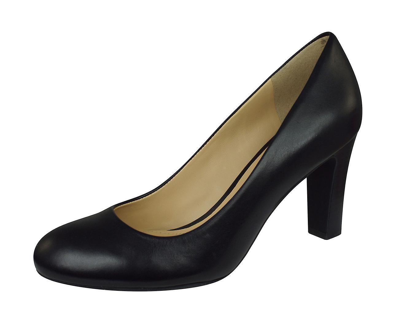 Geox D N Mariele H.A lisse en cuir chaussures femme   talons hauts - noir