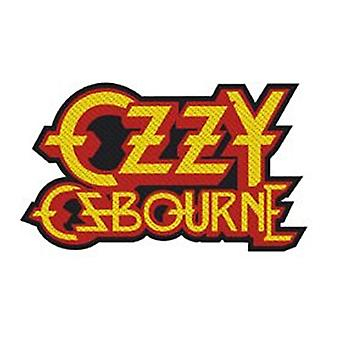 Ozzy Ozbourne cut out logo sew-on cloth patch 90mm x 55mm  (rz)