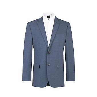 Dobell Mens Mississippi blauen Anzugjacke passen regelmäßige Kerbe Revers