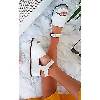 IKRUSH Miya damskie skórzane sandały Flatform