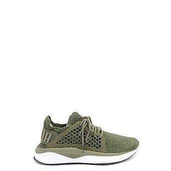 Puma Green Fabric Sneakers