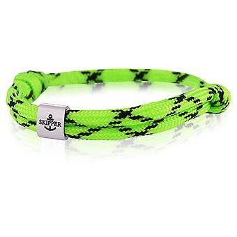 Skipper bracelet surfeur bande noeud bracelet maritime en acier inoxydable vert/noir 7985