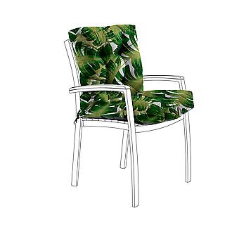 Gardenista® Water Resistant Palm Print Tufted Two Part Chair Cushion