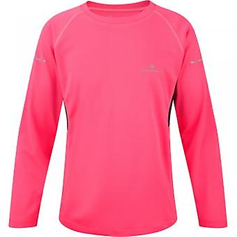 Junior Pursuit Long Sleeve Tee Fluo Pink/Black