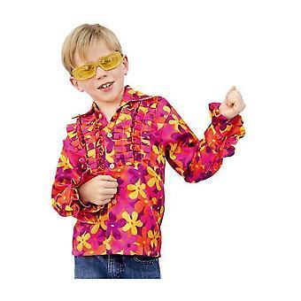 Kostumer til børn skjorte disco hippie med print til børn