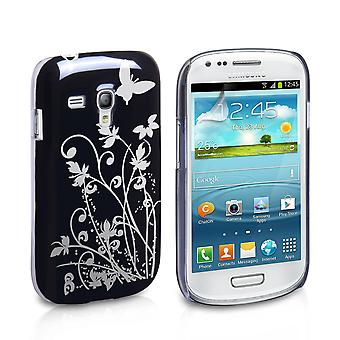 YouSave Samsung Galaxy S3 Mini Floral Butterfly RS BlackSilver