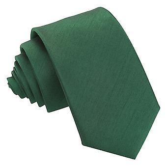 Emerald Green shantung Slim tie