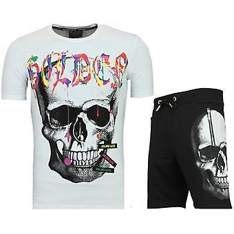 T shirt pak met korte broek - Trainingspakken Mannen - F571 -Wit