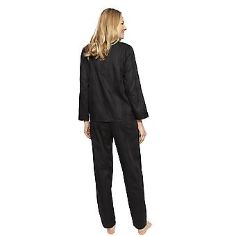 Cyberjammies 1340 Women's Nora Rose Violet Black Check Cotton Pyjama Set