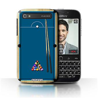 STUFF4 Case/Cover for Blackberry Classic/Q20/Pool/Billiards Blue/Games