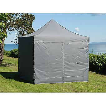 Tente pliante FleXtents Easy up pavillon PRO Telthal 3x3m Gris, avec 4 cotés