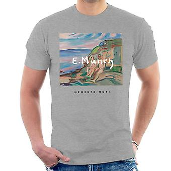 A.P.O.H Edvard Munch Beach Painting Memento Mori Men's T-Shirt