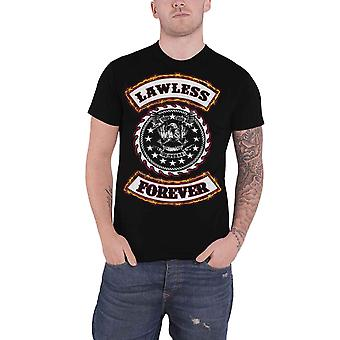 WASP W.A.S.P. T Shirt Lawless Forever Band Logo New Official Black