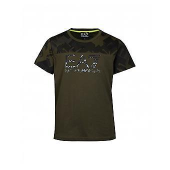 Ea7 Camo Logo T-shirt