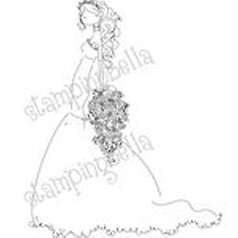 Stamping Bella Unmounted Rubber Stamp Uptown Girl Brigitte The Bride Eb225