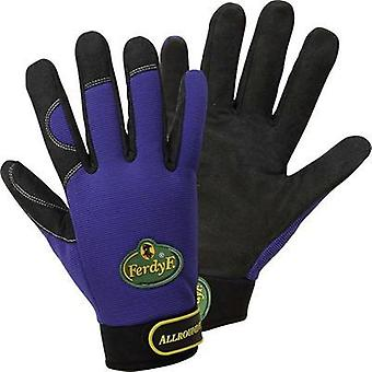 FerdyF. 1900 Royal-blue Clarino® Synthetic-Leather Allrounder Mechanics Gloves M, L, XL EN 388