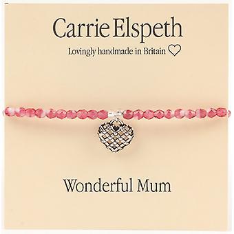 Carrie Elspeth Wonderful Mum Heart Bracelet  Mothers Day