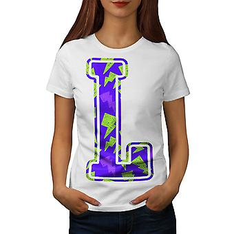 L For Lightning Fashion Women White T-shirt | Wellcoda
