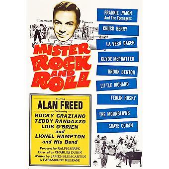 ミスター ・ ロックン ロール トップ左アラン彼のバンド 1957年映画ポスター Masterprint と下部右のリトル ・ リチャードを解放