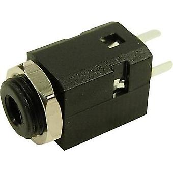 3.5 mm audio jack Socket, build-in Number of pins: 3 Stereo Black Cliff FC681375V 1 pc(s)