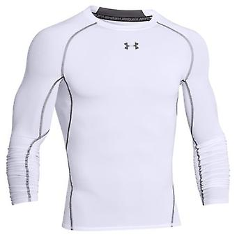 Under Armour HG of compression long sleeve shirt White 1257471 men's