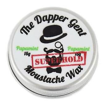 De Dapper Gent Superhold Papamint Moustache Wax (15g)