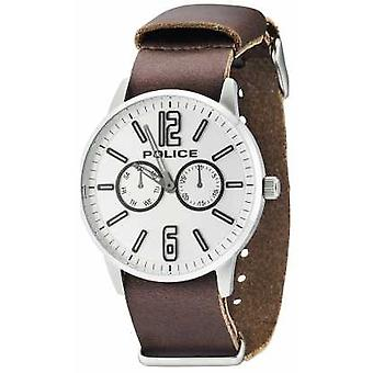 Police Mens Esquire X Dark Brown Leather 14766JS/04 Watch