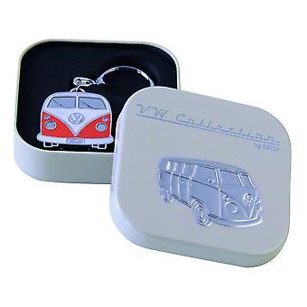 VW Collection Camper Van Metal Keyring in gift box - Orange