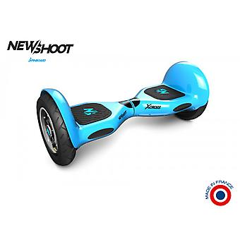 hoverboard spinboard © x cross neon blue