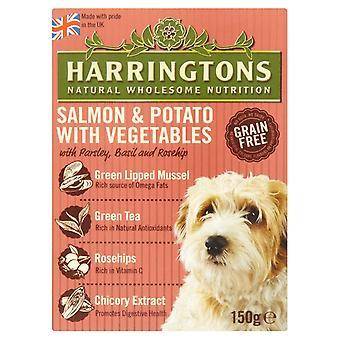 Harringtons våd laks & kartofler 150g (pakke med 7)