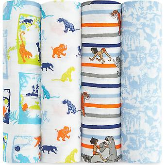 Aden + Anais Disney Baby Classic Swaddles 4 Pack - The Jungle Book
