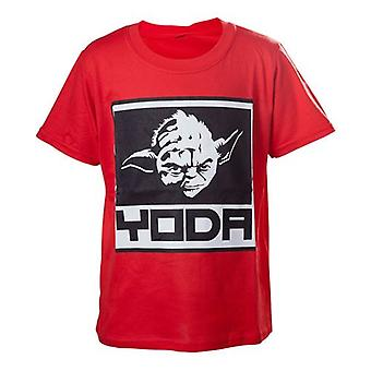 Star Wars Kids Boys Yoda Framed Closeup T-Shirt 122/128 Red TSY19614STW-122/128