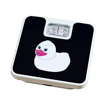 Bathroom Scale Diamante Duck 120kg Max Weight Scale Black and White
