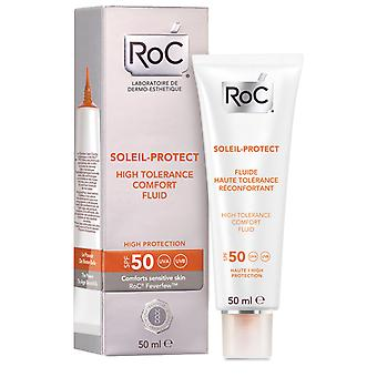 Roc Soleil Protect 50 Fluid High Tolerance 50 ml (Cosmetics , Body  , Sun protection)