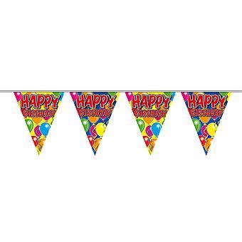 Pennant chain 10 m happy birthday birthday decoration party Garland