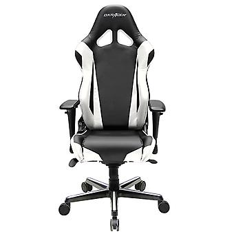 DX Racer DXRacer OH/RV001/NW High-Back Racing Style Office Chair Carbon Look Vinyl+PU(Black/White)