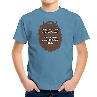 De baard collectie Start een baard Kid's T-Shirt