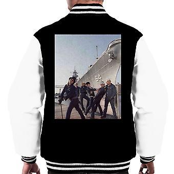 Varsity Jacket Turbonegro Band fotografia maschile