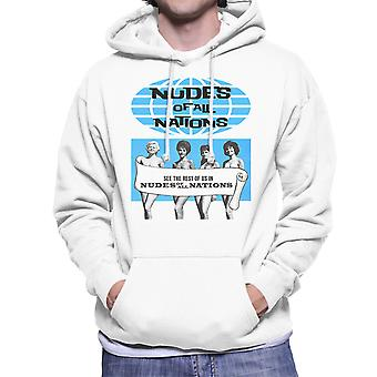 Nudes Of all Nations Naked Girls Men's Hooded Sweatshirt